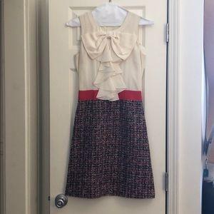 kate spade silk and tweed sheath dress